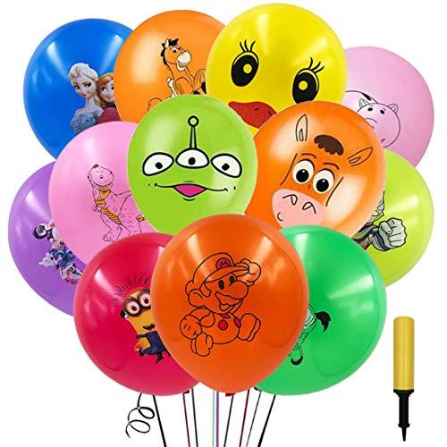 100Pcs Globo de Dibujos Animados ZSWQ-Funny Globos para Fiesta con animales para Cumpleaños, Fiestas, Bodas, Propuestas, Reuniones y Otras Celebraciones,Telaraña Decoración de Fiesta Halloween