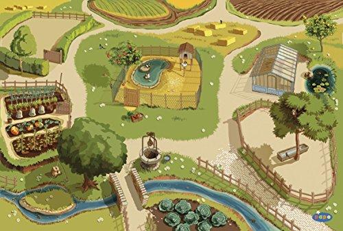 Papo 60501 Piraten UND KORSAREN Teppich Bauernhof, Mehrfarben