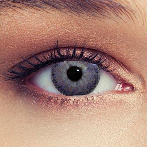 Violette farbige Kontaktlinsen weiche natürlich wirkende Monatslinsen Farblinsen (Violett)