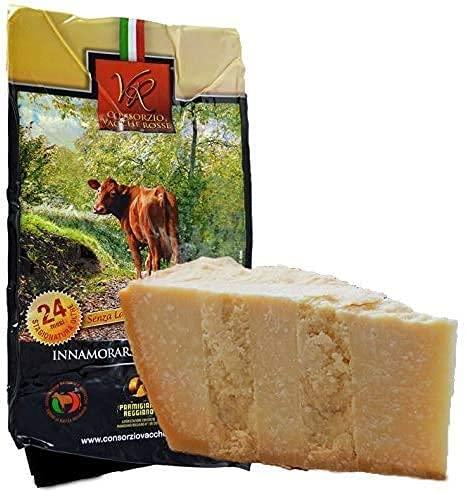 Parmigiano Reggiano Dop VACCHE ROSSE, stagionato 24 mesi, 1 kg - + Esclusivo sacchetto...