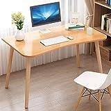 JINHH Mesas Escritorio de la computadora Patas de Haya Estudio, escritorios de Oficina estables, Escritorio Grande para Juegos, fácil Montaje, Oficina en casa (Color: Color Madera)