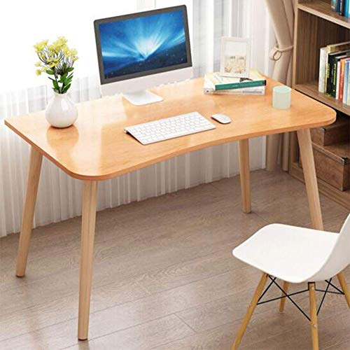 JINHH Tische Computer Schreibtisch Buche Beine Studie, stabile Schreibtische, großer Spieleschreibtisch, einfache Montage, Home Office (Farbe: Holzfarbe)