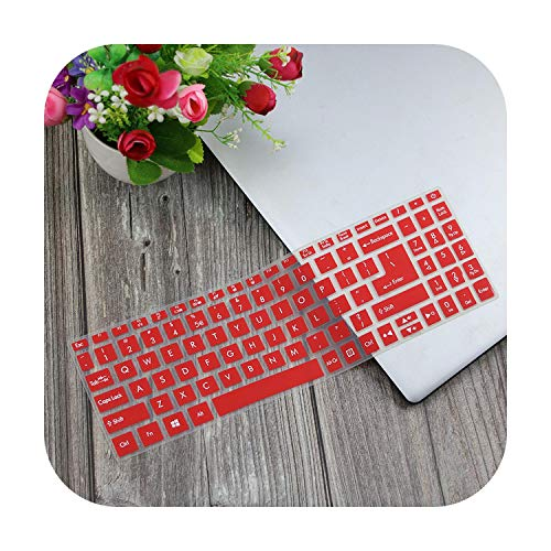 Funda protectora transparente para teclado Acer Aspire 5 A515 52 57Mu A515 52G A515 52 51 55L1 A515 Swift 3 de 15,6 pulgadas, color rojo