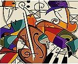 JkykppLienzo de pintura hecho a mano de violín abstracto Hermosa pintura por números regalo sorpresa Gran rendimiento
