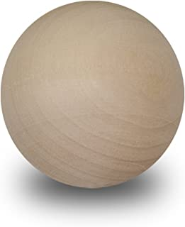 Wood Round Balls 1/2 inch Unfinished Wood (1/2