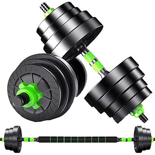 CCTYCC Kurzhantelset, freie Gewichte 3-in-1-verstellbare Kurzhantel, hergestellt mit hochwertiger Rutschfester Sicherheit, 10 / 15kg Langhantel für körperliches Fitness-Training