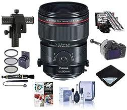 Canon TS-E 90mm f/2.8L Tilt-Shift Macro Lens USA Warranty - Bundle with 77mm Filter Kit, FocusShifter DSLR Follow Focus, LensAlign MkII Focus Calibration System, 4 Way Focusing Rail Control, and More