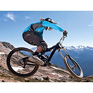 HFJLL Traje de Descenso al Aire Libre - Mountain Bike Motocross Jersey Camiseta de Manga Larga,No.4,L