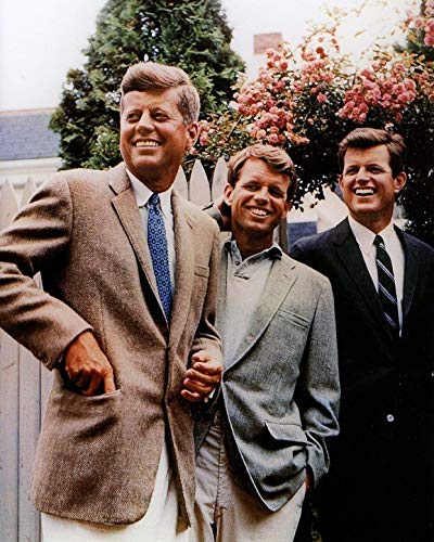 The Kennedy Brothers 1960 Poster Art JFK RFK Edward Posters Artwork S Vivid Imagery Laminated Poster Print-17 Inch by 22 Inch Laminated Poster With Bright Colors