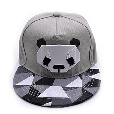 Coohole Women's Sports Baseball Lovely Panda Cap Snapback Golf Ball Hip-Hop Hat (Gray)