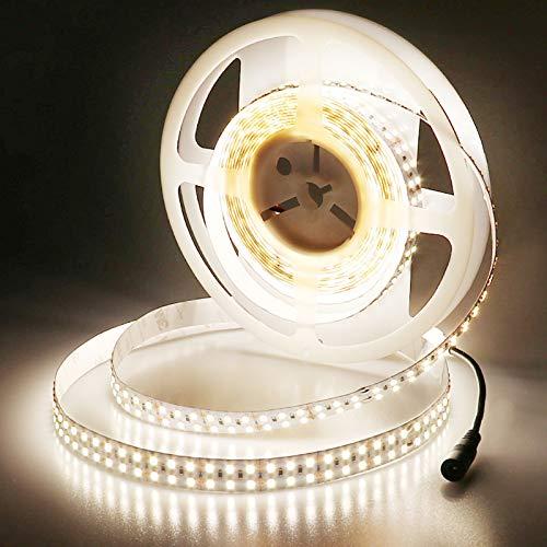 JOYLIT 24V Striscia LED Bianco naturale 4000K, 5M UL CE Elencato Super Luminosità 11200LM CRI 90+ Flessibile 120W Alta Densità Doppia fila SMD2835 1200LEDs Non impermeabile IP20 Luce Nastro Luminoso