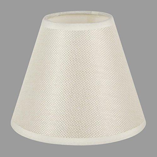 ONEPRE kleine Kerze Clip Lampenschirme, Handarbeit, Kerzenform, Beige Linen Stil Stoff, Handgefertigte Dekorative Handgemacht Lampenschirm