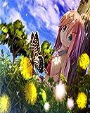 cuadros punto de cruz -Dibujos animados anime girl lindo hermoso juego japonés- punto de cruz niñas set punto de cruz tela punto de cruz blanco cuadros de punto de cruz para hacer punto de cruz n