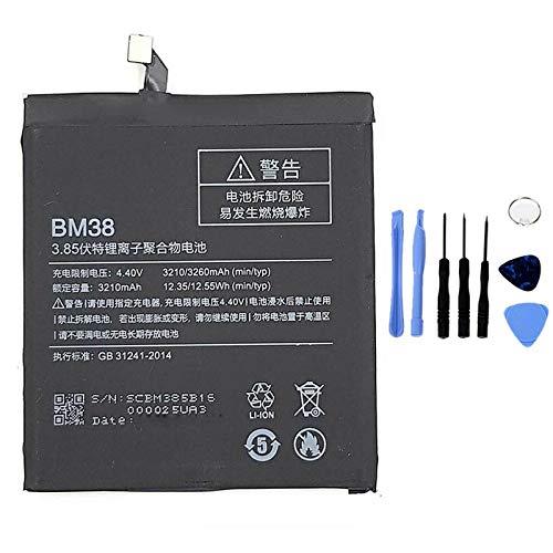 Ellenne Batería compatible con Xiaomi Mi 4S MI4S BM38 de alta capacidad 3210 mAh con kit de desmontaje incluido