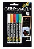 folia 390509 - Kreidemarker 5er Set, 5 Farben sortiert, Strichstärke ca. 1 - 2 mm, deckende...