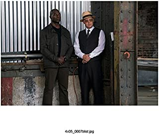 The Blacklist (TV Series 2013 - ) 8 Inch x10 Inch James Spader Grey Suit & Tan Hat Standing w/Hisham Tawfiq Both w/Hands Clasped at Waist kn