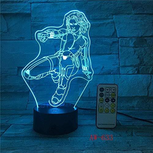 Boutiquespace Luz 3D de la noche de la luz 3D de la botella de cerveza de vino tinto de la noche de la luz táctil sensor de cambio de color del hogar fiesta decoración de la