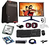 Rolltop Assembled Desktop Computer, Intel Core 2 Duo 3.0 GHZ Processor, G 31 Motherboard, 17 Inch LED, DVD R/W,4 GB RAM, Windows 7 & Office Trial Version with Web Camera, Wi Fi Adaptor, Mic Speaker ROLLTOP PC is Suitable for Office Work, Home Work, E...