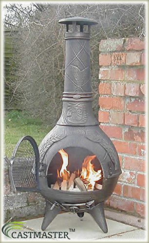 Castmaster Calico Cast Iron Chiminea FREE BBQ Grill included - Bronze Finish*