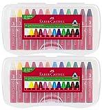 Faber-Castell 12 Jumbo Wachsmalkreiden (2er Pack)
