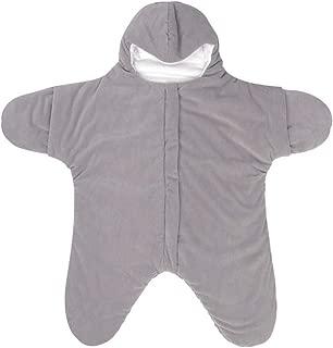 AOLVO Starfish Sleeping Bag,Cotton Baby Wearable Blanket Nursery Swaddle Sleeping Wrap Newborn Stroller Bunting Bag Pushchair Footmuff Cover for 0-24 Month