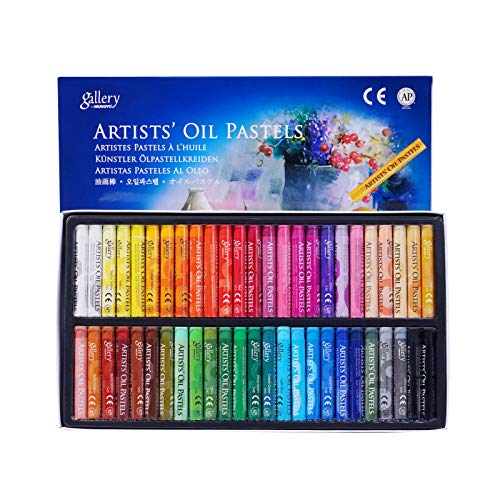 48 Color Professional Oil Pastels,Non Toxic Soft Drawing Pastel Sticks,Round Art Crayons for Painting Drawing Blending Layering Shading Graffiti DIY Craft,Adults Artist Beginners Students Kids