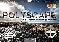Polyscape - Geometrie trifft Fotografie (Wandkalender 2022 DIN A4 quer): Geometrische Formen multipliziert mit Fotografie aus Stadt und Landschaft (Monatskalender, 14 Seiten )