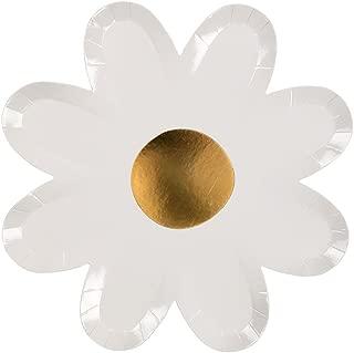 Meri Meri Daisy Flower Plates - Pack of 8 - Birthday, Party Decorations