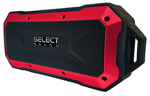 Select Sound Bocina Bluetooth Recargable, Resistente al Agua (Rojo)