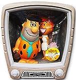 Wacky Wobbler Fred + Wilma Los Picapiedra TV Set con 2 Figuras PVC APPR 15cm de Funko...