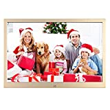 Cornice per foto digitale da 12', in metallo, risoluzione 1280 x 800 con telecomando, porta USB / SD / MMC / MS / calendario/orologio/cornice elettronica multilingue
