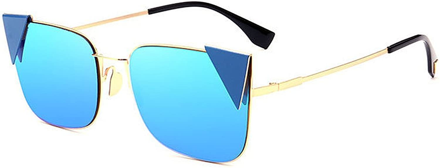 Cute colord Lens Lady's Cat Eyes UV Predection Sunglasses for Women Outdoor Driving Travelling (color   blueee)