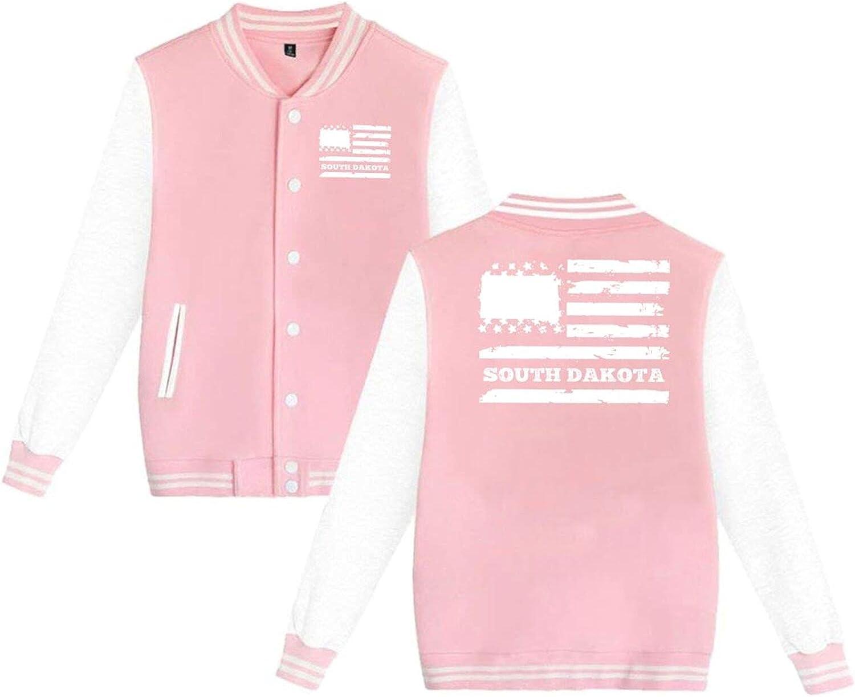 South Dakota State Fashionable USA Flag Baseball Jacket Ranking TOP11 Unisex Uniform Hoodi