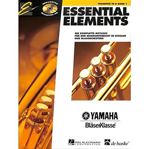 Essential Elements Band 1 mit CD für Trompete in B - Die komplette Methode für den Musikunterricht in Schulen und Blasorchestern - mit bunter herzförmiger Notenklammer