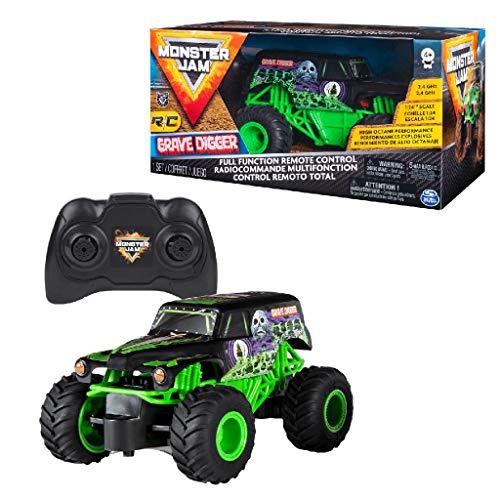 Spin Master Gravedigger Monster Jam RC-Camión de Escalas 1:24, (6044955)
