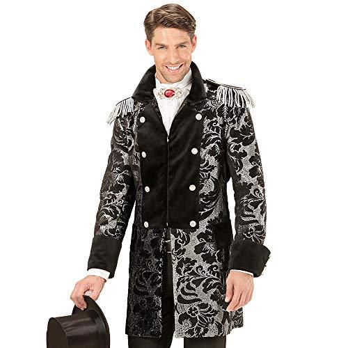 Widmann 59284 - Kostüm silber Mantel Jacquard Parade, für Männer, Frack, Mottoparty, Karneval