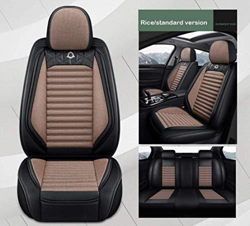 QQJK Sitzbezüge Auto Set Autositzbezüge Leder für Ford Fiesta Focus 2 3 Mk2 Mk3 Mondeo Mk4 Mk3 Fusion Mustang S...