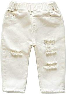 Ozmoint Pantaloncini Lunghi da Ragazza in Denim Elasticizzati 7-13 Anni con Strisce Laterali e 5 Tasche