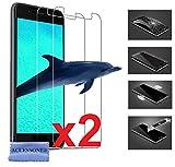 Qilive 5 4G ( 5'' Pouces ) 2 Vitre Film Verre Trempé de Protection ecran Anti Brise, Anti-Rayure 100% Transparent (2...