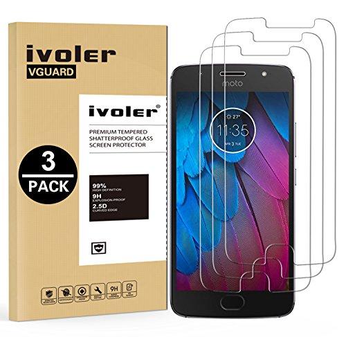 iVoler [3 Pack] Pellicola Vetro Temperato per Motorola Moto G5S, Pellicola Protettiva, Protezione per Schermo