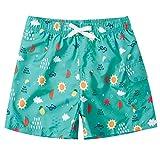 ALISISTER Chicos Niño Bañador 6-8 Años Patrón Hawaiano 3D Cintura Elástica Trajes de baño Playa Bañadores Pantalones Cortos Pantalones
