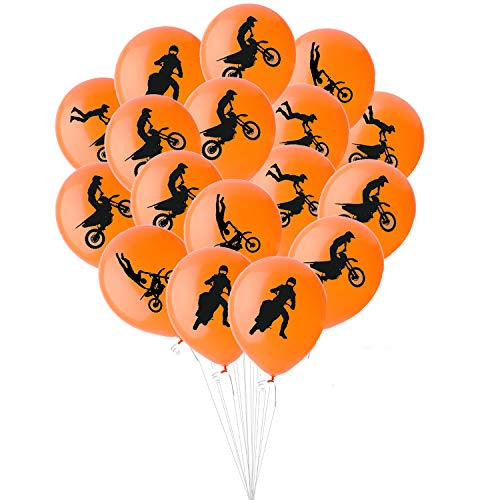 50PCS Dirt Bike Party Decorations Latex Balloons - Motocross Game Racing Birthday Party Supplies Favors