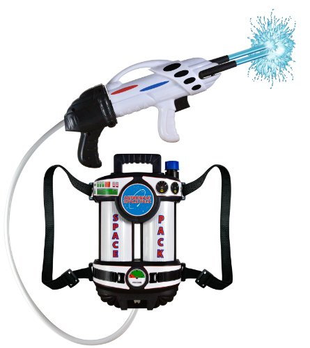 Aeromax Astronaut Space Pack Super Water Blaster with fully adjustable straps for comfort and control.