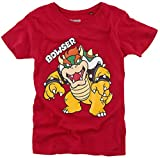 Super Mario Bowser Homme T-Shirt Rouge 86/92, 100% Coton,