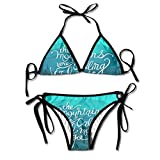 The Mountains Are Calling and I Must Go 3 Lady Retro Adjustable Swimsuit Bikini Set