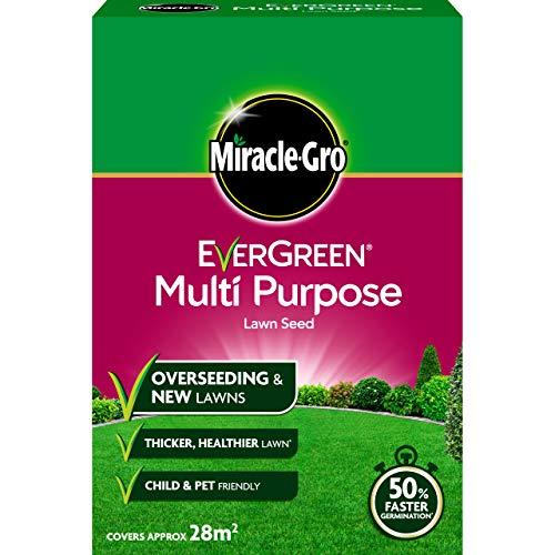 Scotts Miracle-Gro Semence de Gazon Evergreen Multifonction - 1,6 kg Graines de Gazon universelles 840 g