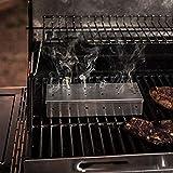 Tensay 2 Pcs Outdoor Barbecue Produkte Edelstahl Smoker Box BBQ Edelstahl Smoke Box, Anzug für Home Kitchen Outdoor Bar Barbecue