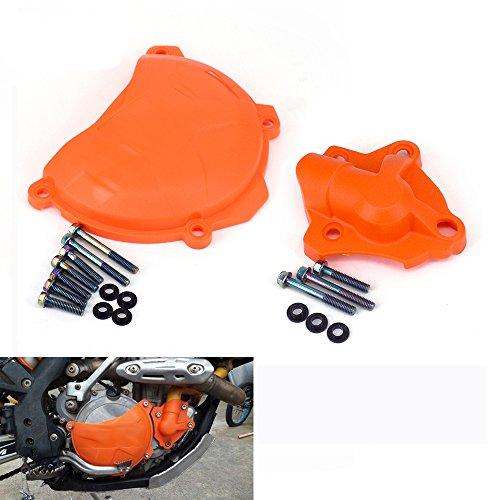 JFG Racing - Set copertura per pompa dell'acqua + copertura frizione motore per K.T.M 250 350 SXF EXCF XC-F 250 SX-F 2013-2015 250 EXC-F 2014-2015 350 SX-F 2011-2015