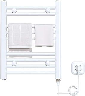 HYLH Mueble De BañO con CalefaccióN, Calentador De Toallas Radiador De BañO De Toallero Recto EléCtrico De 500 * 400 Mm, De DiseñO Blanco