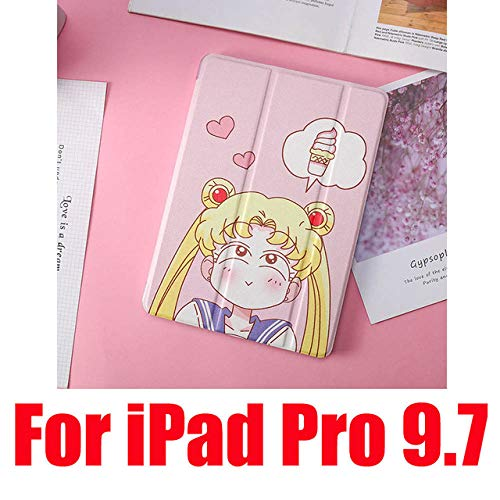 SMZNXF Tablet PC case,Cute Cases For iPad 2 3 4 Mini 1 2 3 4 5 Air 1 2 10.5 Pro 9.7 10.5 New Soft Leather Filp Tablet PC Cover,Ice Cream Pro 9.7